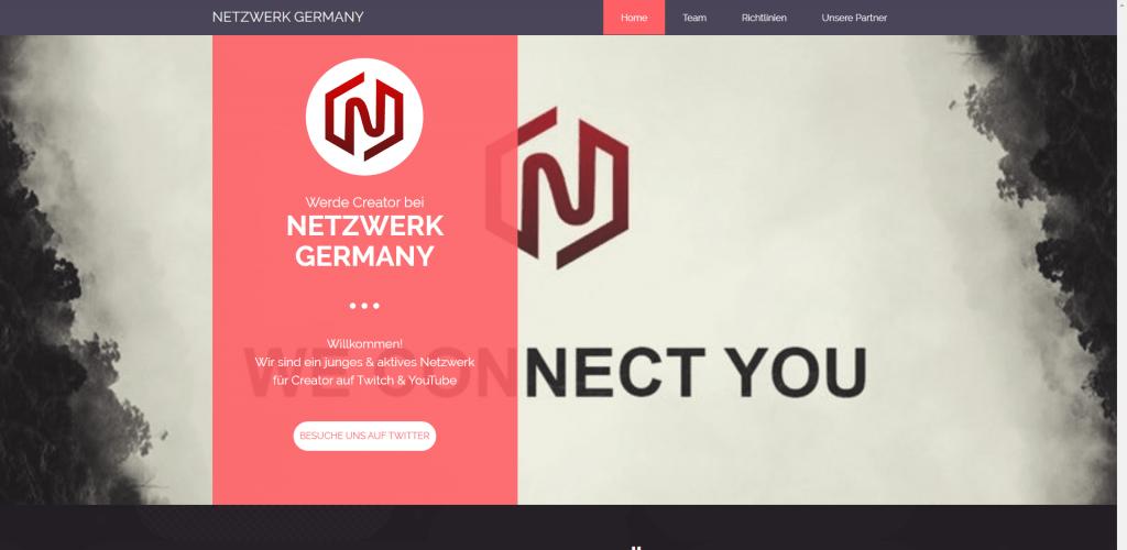 Screenshot Homepage Netzwerk Germany