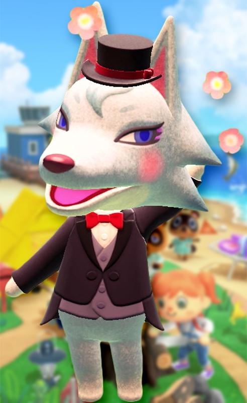 Animal Crossing New Horizons: Die Tierbewohnerin Lupa zeigt sich von der galanten Seite!